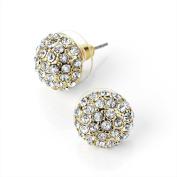 Bling Online 12mm Gold Tone Crystal Earrings.