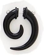 Black Spiral Tribal Fake Ear Taper , Looks like a Genuine Ear Stretcher