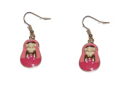 Cute Russian Nested Doll Drop Hook Earrings (Supplied in a Gift Pouch) Unique Jewellery