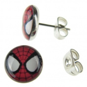 Jewellery of Lords Pair of Acrylic Spiderman Spider Eyes Super Hero Surgical Stainless Steel Stud Earring