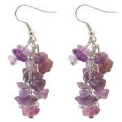 Chip Earrings - Amethyst
