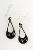 Tumi Abalone shell drop earrings