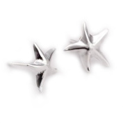Starfish Stud Earrings - 925 Sterling Silver Plated. Designer Inspired