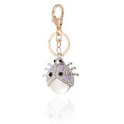 Handbag Buckle Charms Accessories White Ladybird Keyrings Key Chains HK20