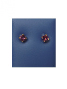 Caflon Amethyst Fashion Earrings 4 mm