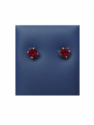 Caflon Garnet Fashion Earrings 4 mm