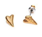 Pilgrim Gold Plated Classic Rustic Heart Earrings