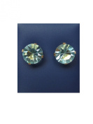 Caflon Gold Plated Aquamarine Fashion Earrings 8 mm