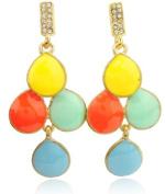 Blingalove Diamante & Rainbow Drop Earrings