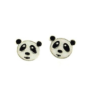 The Olivia Collection Sterling Silver Panda Bear Stud Earrings