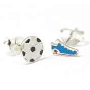 The Olivia Collection Sterling Silver Funky Football Stud Earrings