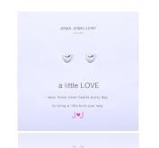A Little Love Silver Heart Earrings By Joma jewellery