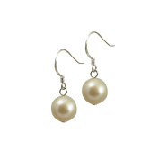 Oyster White Freshwater Pearl Sterling Silver Drop Earrings