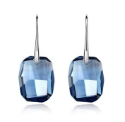 Stunning Midnight Blue Earrings with. Crystal Elements
