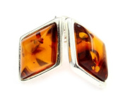 Beautiful 925 Sterling Silver & Baltic Amber Designer Earrings SilverAmber GL037