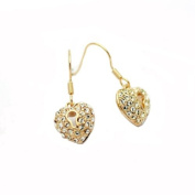 18ct Yellow Gold Finish Earrings with. Crystals