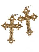 Rock 'N Rose GABRIELLE Vintage Baroque Cross Earrings