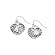 Guess UBE11212 Ladies Silver Heart Earrings