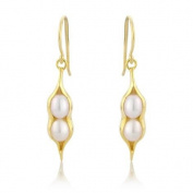 Argent Of London Gold Plated Peapod Hook Earrings