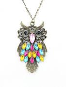 WorldTree Fashion Vintage Bronze Style Owl Bird Animal Pendants Long Chain Necklace, .