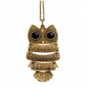 Stone River Jewellery Bronzed Vintage Style Owl Necklace Pendant