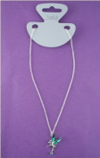 Girls Silver Diamante Fairy Necklace One Supplied IN3801