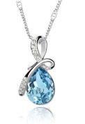 Eternal Love Teardrop Crystal Pendant Necklace