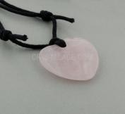 Taurus Birthstone Necklace - Rose Quartz Heart