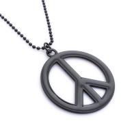 K Mega Jewellery Cool Black Freedom Peace Beauty Mens Pendant Necklace
