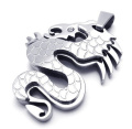 K Mega Jewellery Stainless Steel Silver Dragon Mens Pendant Necklace