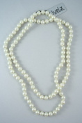 Pearl Bead Rope Necklace - 120cm long