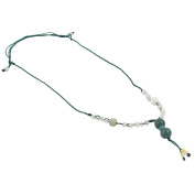 Jade Ball Necklace - Green String