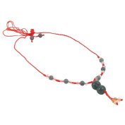 Jade Ball Necklace - Red String