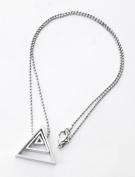 Ladies Triangle Shape Necklace Locket-NEC376510.