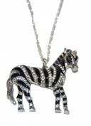 Austrian Crystal Zebra Long Necklace with Enamel Plating (Gift Pouch Included) Fashion Jewellery