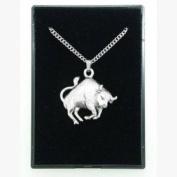 Fine Quality English Pewter Pendant Necklace Gift, Taurus Horoscope Design