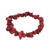Stretch bracelet made of red coral