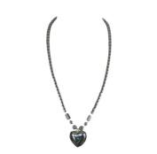 "Hematite Necklace 18"" / 45 cm Heart Design + White Presentation Box"