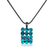 Turquoise Bling Necklace -Sparkling Diamante Encrusted Jewellery - Matching Bling Ring available - Arrives in pretty gift bag