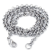 JewelryWe New 316l Stainless Steel Rings Circles Buckle Link Chain Men's Necklace Neckware