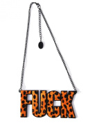 Leopard Fuck Pendant Necklace