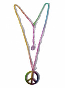 Rainbow Peace Sign Pendant Necklace