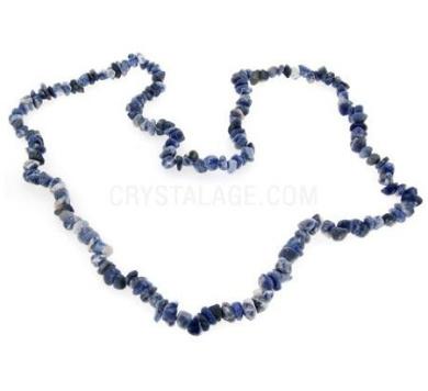 Sodalite Gemstone Chip Necklace