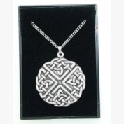Fine Quality English Pewter Pendant Necklace Gift, Celtic Knot Design