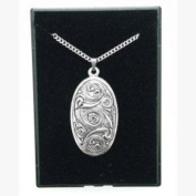 Fine Quality English Pewter Pendant Necklace Gift, Celtic Shield Design