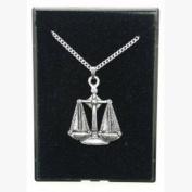 Fine Quality English Pewter Pendant Necklace Gift, Libra Horoscope Design