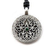 Mystical & Magical Pewter Seeker of Wisdom Pentagram Wiccan Pagan Gothic Pendant