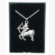 Fine Quality English Pewter Pendant Necklace Gift, Sagittarius Horoscope Design
