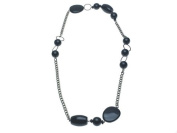 Primrose Hill Chunky Black Bead Necklace