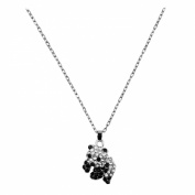 OMYGOD Small panda pendant - clear and jet crystal